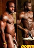 Dark skinned bodybuilder full of testosterone