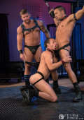 The guys show up hard and ready for BDSM action