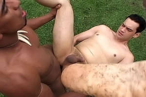Interracial Gay Anal Action