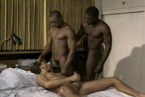 Blacks on White Threesome