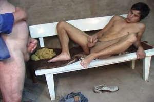 Old gay banging tight hole