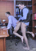 Clerc assfucked in office