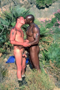 White gay sextourist meets black buddy
